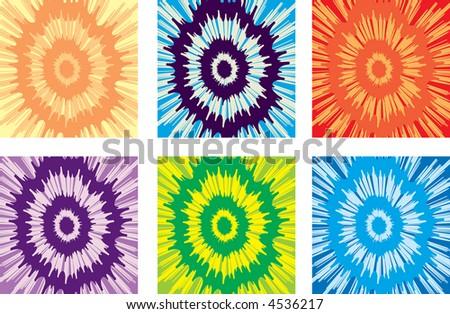 Tie-dye tee shirts in original, unique designs