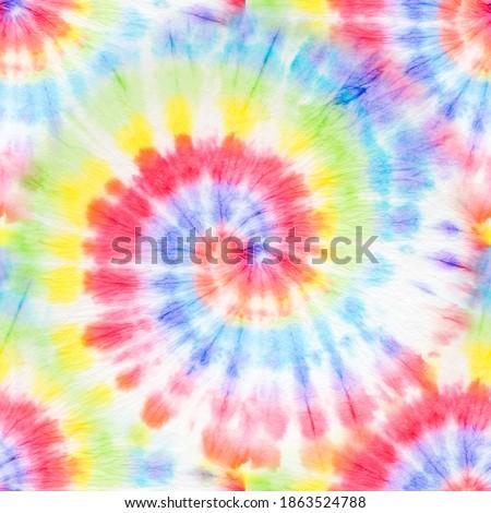 Tie Dye Pattern. Aquarelle Print. Tie Dye Spiral Pattern. Rainbow Artistic Circle. Tiedye Swirl. Trendy Acrylic Illustration. Vibrant Seamless Tie Dye. Magic Watercolor Dirty Art.