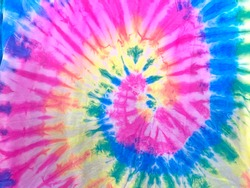tie dye pattern hand dyed on cotton fabric abstract texture background