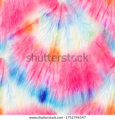 Tie Dye Pattern. Organic Fashion Tie Dye. Modern Tie Dye Pattern. Bright Seamless Design. Tie and Dye. Trendy Acrylic Fabric. Rainbow Artistic Dirty Style. Aquarelle Batik.