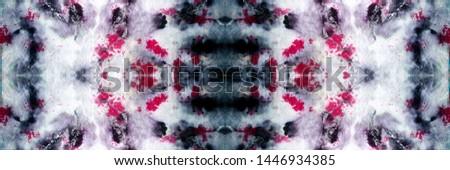 Tie Dye Seamless Pattern. Diverse Panoram With Dark Tones. Ruby, Orange and Blue Grunge Style. Batik Textile. Multicolor Ultramarine and White Bohemian batik. Tie Dye.