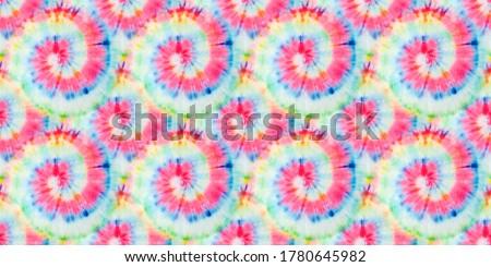 Tie Dye Spiral. Beautiful Watercolor Dirty Art. Swirled Aquarelle Pattern. Bright Seamless Design. Tie and Dye. Swirled Spiral Illustration. Rainbow Fashion Tie Dye. Artistic Print.