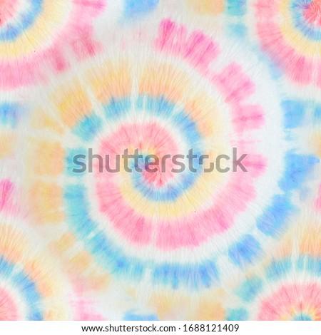 Tie Dye Spiral. Endless Aquarelle Illustration. Tie Dye Hippie Pattern. Bright Colors Dyed Texture. Magic Abstract Wallpaper. Trendy Fashion Tie Dye. Vibrant Fantasy Dirty Art.