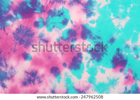 tie dyed pattern on cotton fabric for background.  #247962508