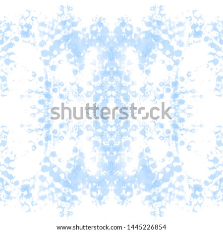 Tie effect. Dye effect. Colorful ethnic painting. Beauty style wallpaper. Modern dyeing background. Azure, white tie effect.