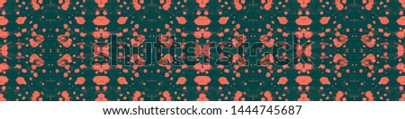 Tie effect. Dye effect. Colorful ethnic painting. Japanese endless natural ornament. Boho style painting. Coral, black tie effect.