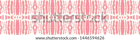 Tie effect. Dye effect. Hand drawn ink ornament. Craft bohemian painting. Handmade artistic endless backdrop. Pink, white, gold tie effect.