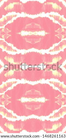 Tie effect. Dye effect. Handmade artistic endless backdrop. Hippie style ornament. Craft bohemian painting. Pink, white, gold tie effect.