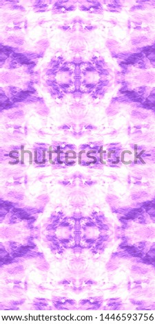 Tie effect. Dye effect. Japanese endless natural design. Chevron continuous painting. Infinite hippie texture. Violet, white tie effect.