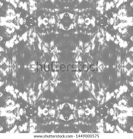 Tie effect. Tie dye background. Bohemian fashion painting. Traditional japanese wave style. Vintage patchwork backdrop. White, gray tie effect.