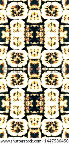 Tie effect. Tie dye background. Boundless ethnic art. Hand drawn ink ornament. Japanese endless natural ornament. Black, gold, white tie effect.