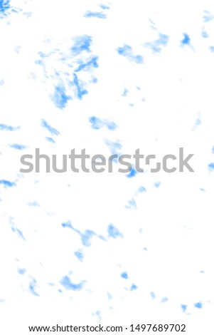 Tie Effect. Tie Dye Background. Brush Paint Pattern. Bleached Dirty Art. Urban Abstract Wallpaper. Textile Ornament. Retro Style. Indigo, White, Blue Tie Effect.