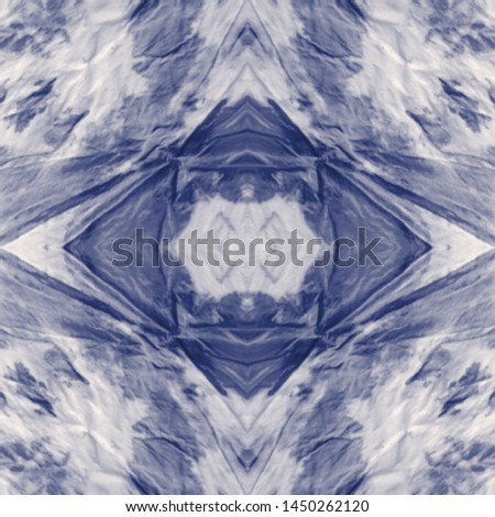Tie effect. Tie dye background. Craft bohemian painting. Splattered style illustration. Colorful wavy lines illustration. Indigo, white tie effect.