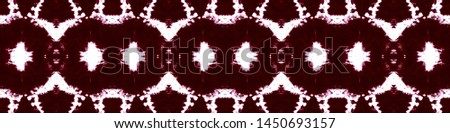 Tie effect. Tie dye background. Ethnic cloth decoration. Japanese endless natural ornament. Dyeing geometric template. Magenta, white tie effect.