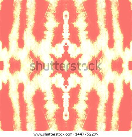 Tie effect. Tie dye background. Infinite hippie texture. Shibori organic background. Grunge urban wallpaper. Coral, gold, white tie effect.