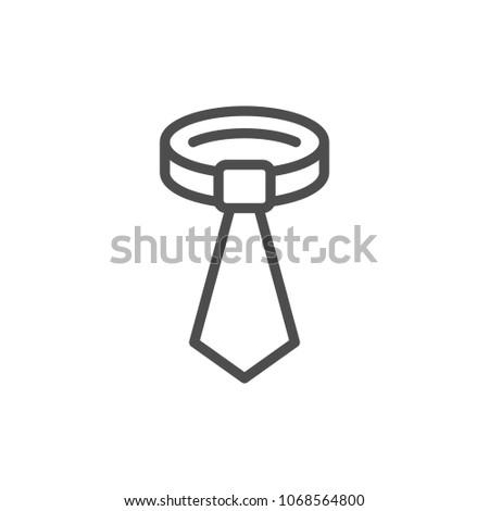 Tie line icon isolated on white