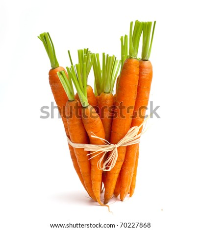 tied carrots