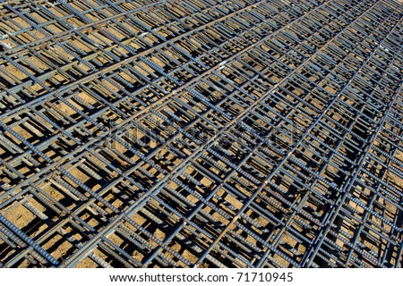 Tied Rebar Reinforcing Steel Panels