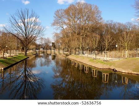 Tiergarten center city park, Berlin, Germany.