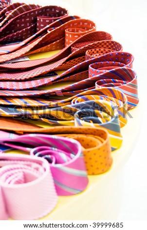 ties rainbow isolated