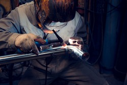 TIG welding of polished stainless steel pipe