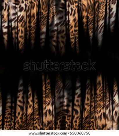 tiger and leopard skin background