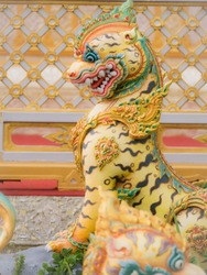 Tiger Angel from Himmapan Paradise in The Royal Crematorium of King Bhumibol Adulyadej King Rama 9