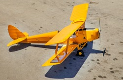 Tiger Moth Airplane ready for take off.