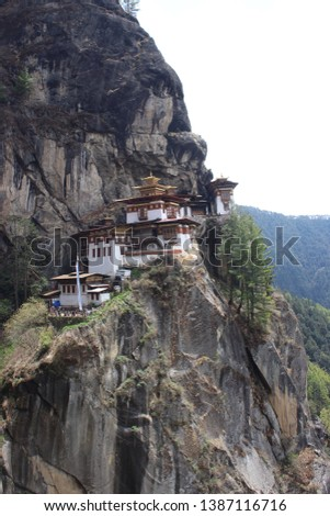 TIGER NEST: This is the Tiger Nest, located in Paro, Bhutan. This picture has been taken during the month of April. One has to hike for around 3 hours to reach here. A perfect example of serenity.