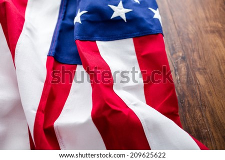 Tight closeup of the stars and stripes of an American Flag. #209625622