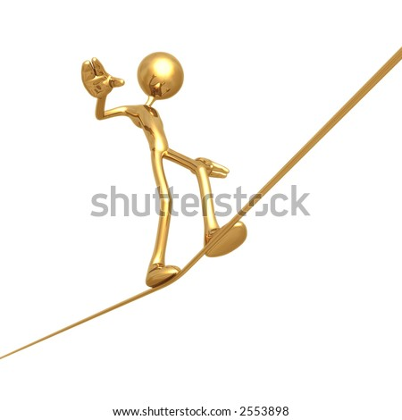 Tight Rope Walk - stock photo
