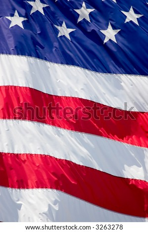 Tightly cropped background photo of the American flag.