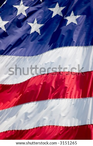 Tightly cropped photo of the flag of the United States.