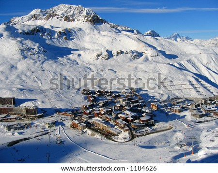Airial photo tignes france
