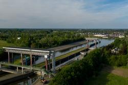 Tijsluis - a lock on the Dender river, in Dendermonde, Belgium