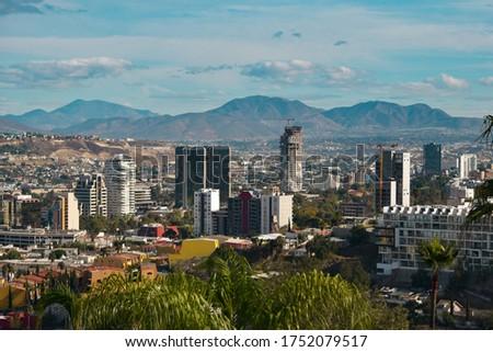 Tijuana city Skyline, Baja California Mexico