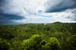 Tikal, Mayan ruins in Guatemala, seen from temple IV.
