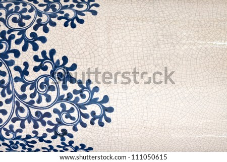 Tile background texture of antique ornament with grunge effect