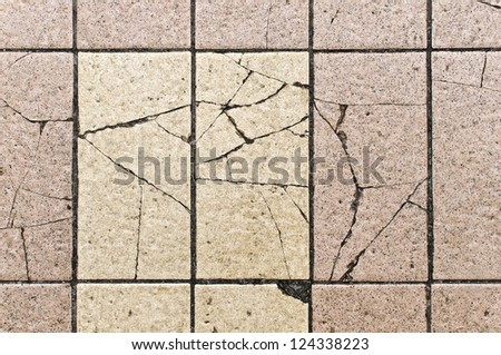 Tile floor broken