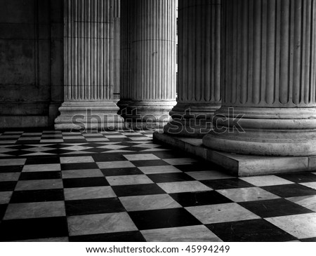 Tile floor, St Pauls Cathedral, London, England