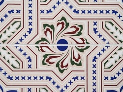 Tile in a bar in South America