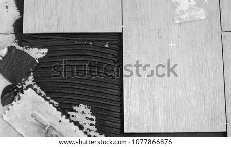 tile on the floor #1077866876