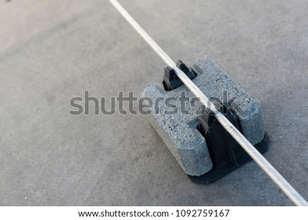 Tile piles for holding and guiding conductors. #1092759167