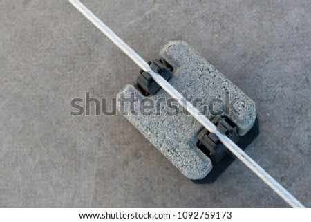 Tile piles for holding and guiding conductors. #1092759173