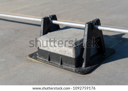 Tile piles for holding and guiding conductors. #1092759176