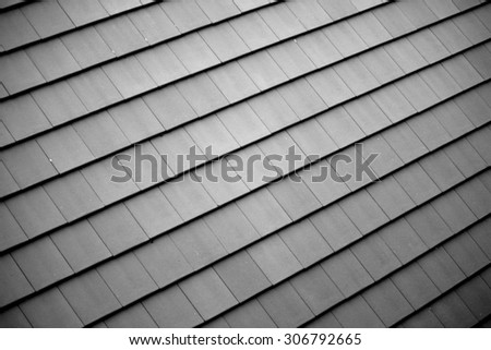 Tile roof backgroung & texture #306792665