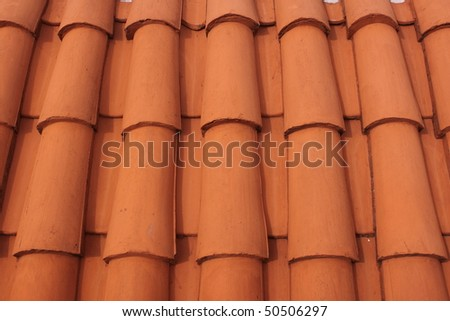 Tile roof in Sucre, Bolivia
