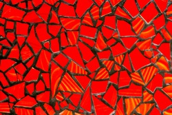 tile-shard ceramic tiles mosaic seamless pattern terracotta Background