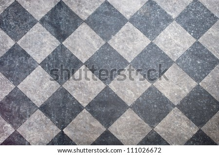 tiled floor in black and gray background