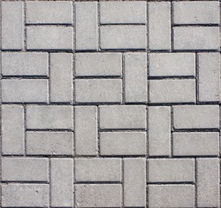Tiled mosaic concrete pavement of the road